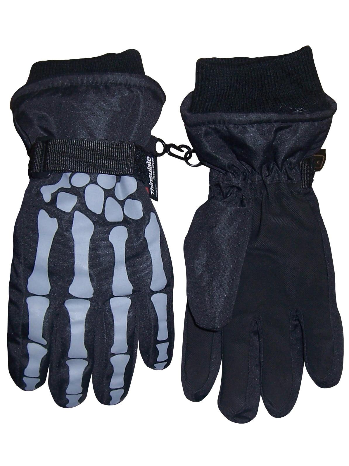 Children Warm Winter Full Finger Gloves Baby Fleece Lined Snow Ski Mittens