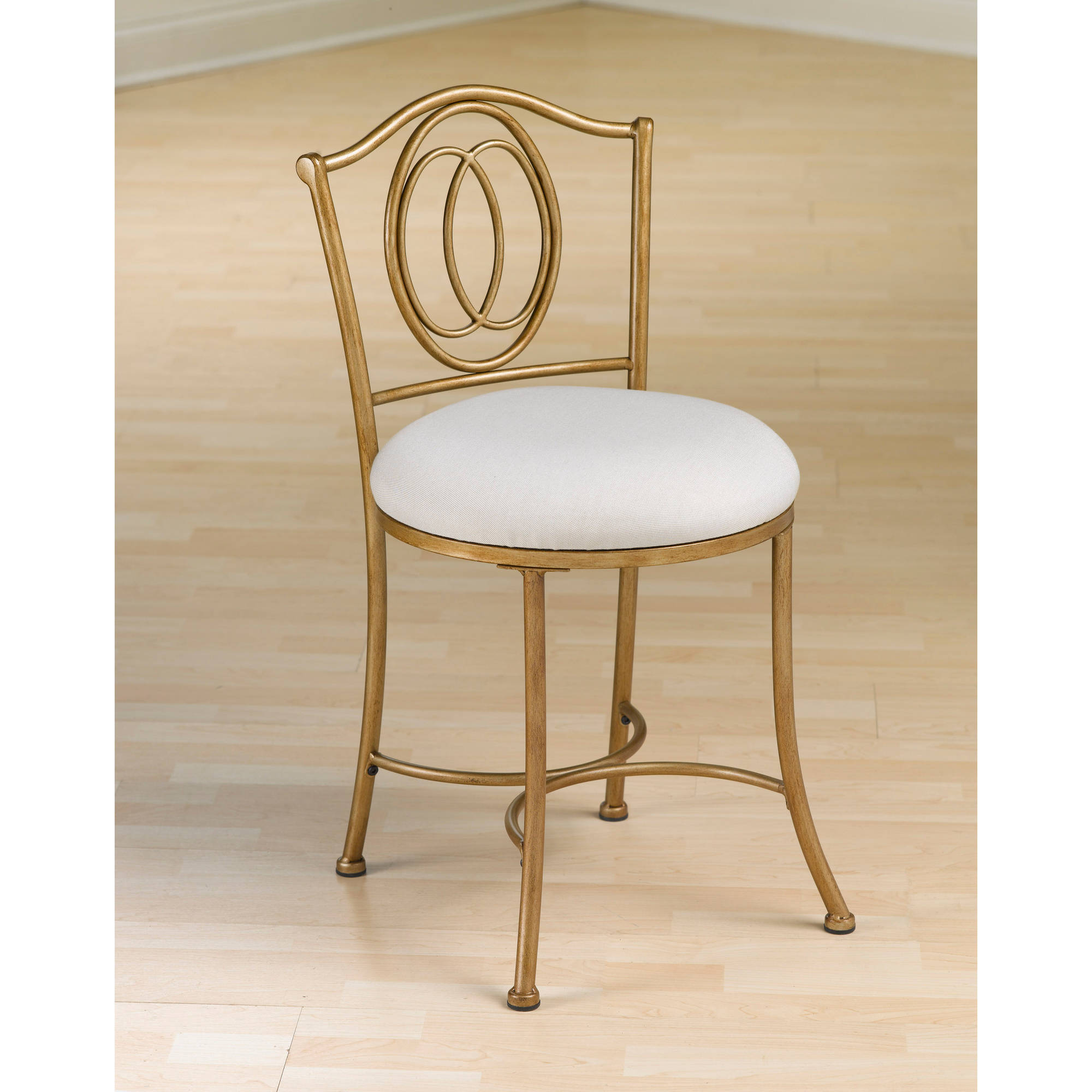 Hillsdale Furniture Emerson Vanity Stool Golden Bronze Walmart