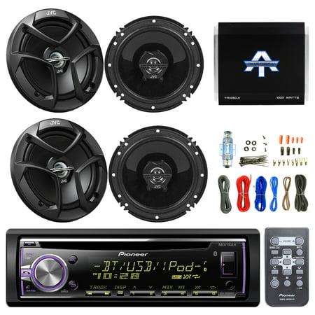 Pioneer DEHX6900BT CD/MP3 AUX Bluetooth Remote Receiver, 4x JVC CSJ620 6.5