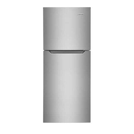 Frigidaire FFET1022UV 24 Inch Freestanding Counter Depth Top Freezer Refrigerator Stainless Steel Samsung Counter Depth Refrigerator