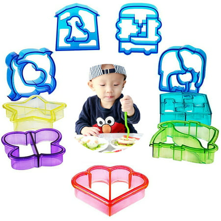 Sandwich Cutters for Kids - 10 x Crust Cutters, 5 x Veggie/Fruit - Halloween Sandwich Cutters Uk