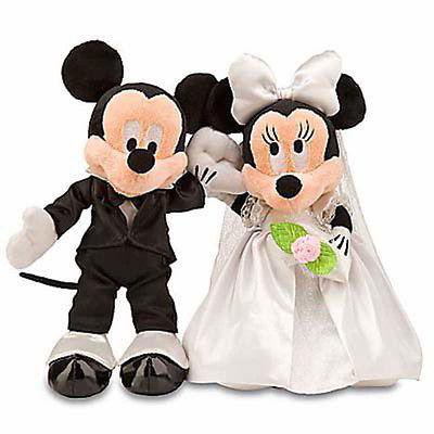 disney parks mickey & minnie wedding set groom & bride plush new with tag](Minnie Y Mickey Halloween)