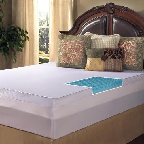 Grande Hotel Collection 3-inch Big Comfort Gel Memory Foam Mattress Topper with Polysilk Cover Full