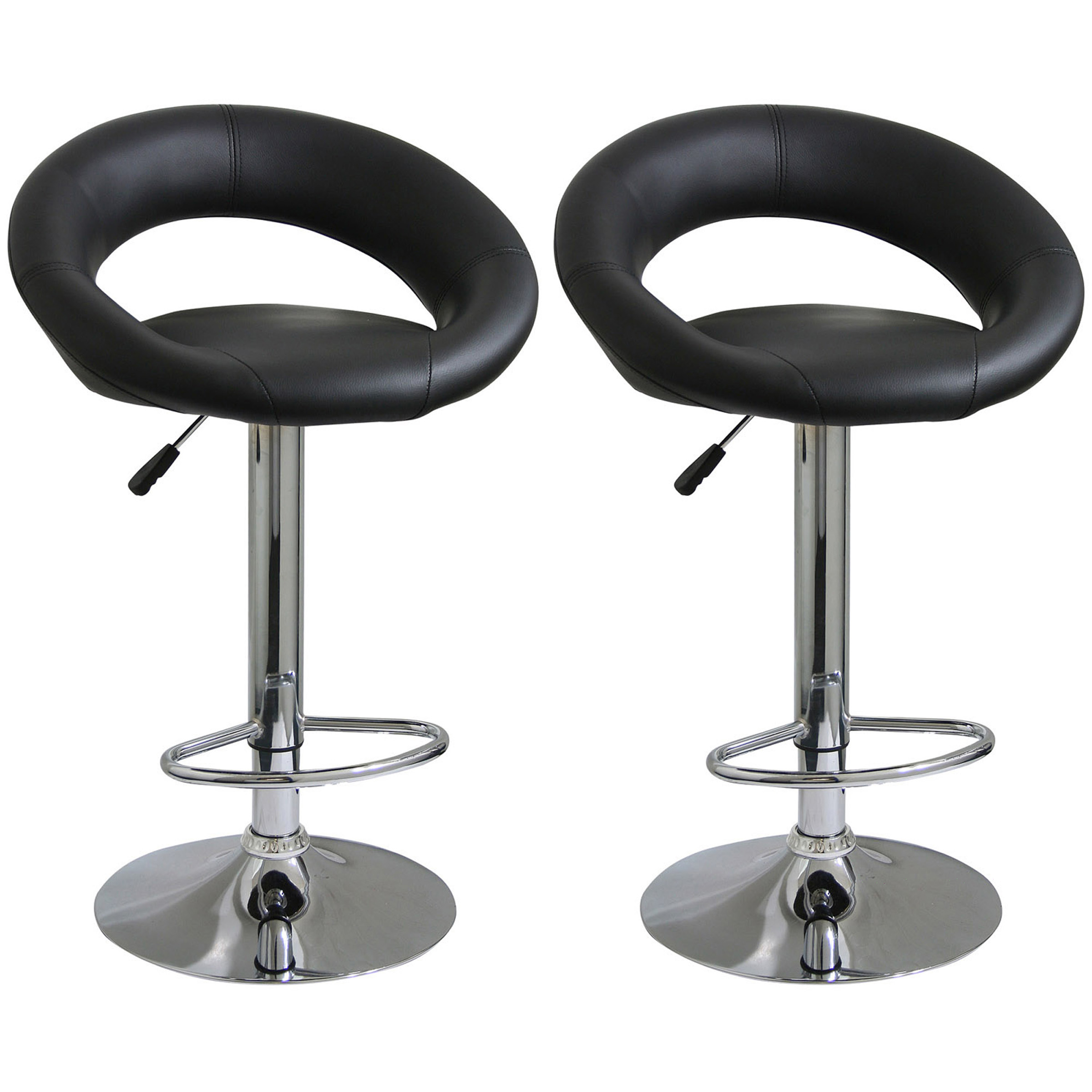amerihome classic relaxed bar stool   pc black  walmartcom -