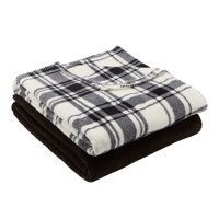 "Mainstays Fleece Plush Throw Blanket, 50"" x 60"""