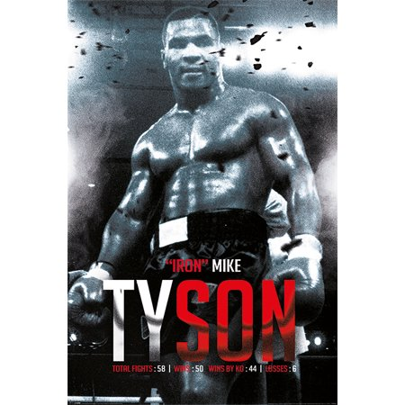 Mike Tyson   Sport   Boxing Poster   Print  Iron Mike   Record   Size  24   X 36
