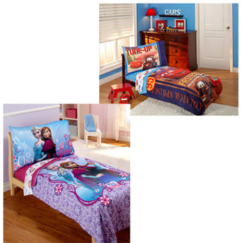 Your Choice 4-Piece Toddler Bedding, Available in Frozen, Cars, Minnie and More!