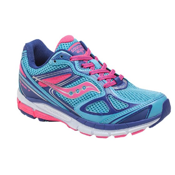 Saucony Guide 7 Girls Running Shoes Size US 7 M, BluePinkPurple