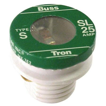 COOPER BUSSMANN 4 Pack 25A Type SL Plug Fuse SL 25PK4