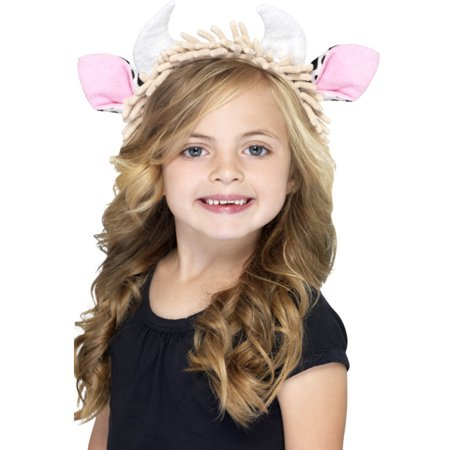 Child Cow Ears Farm Animal Ears On A Headband Costume - Animal Ears Costume