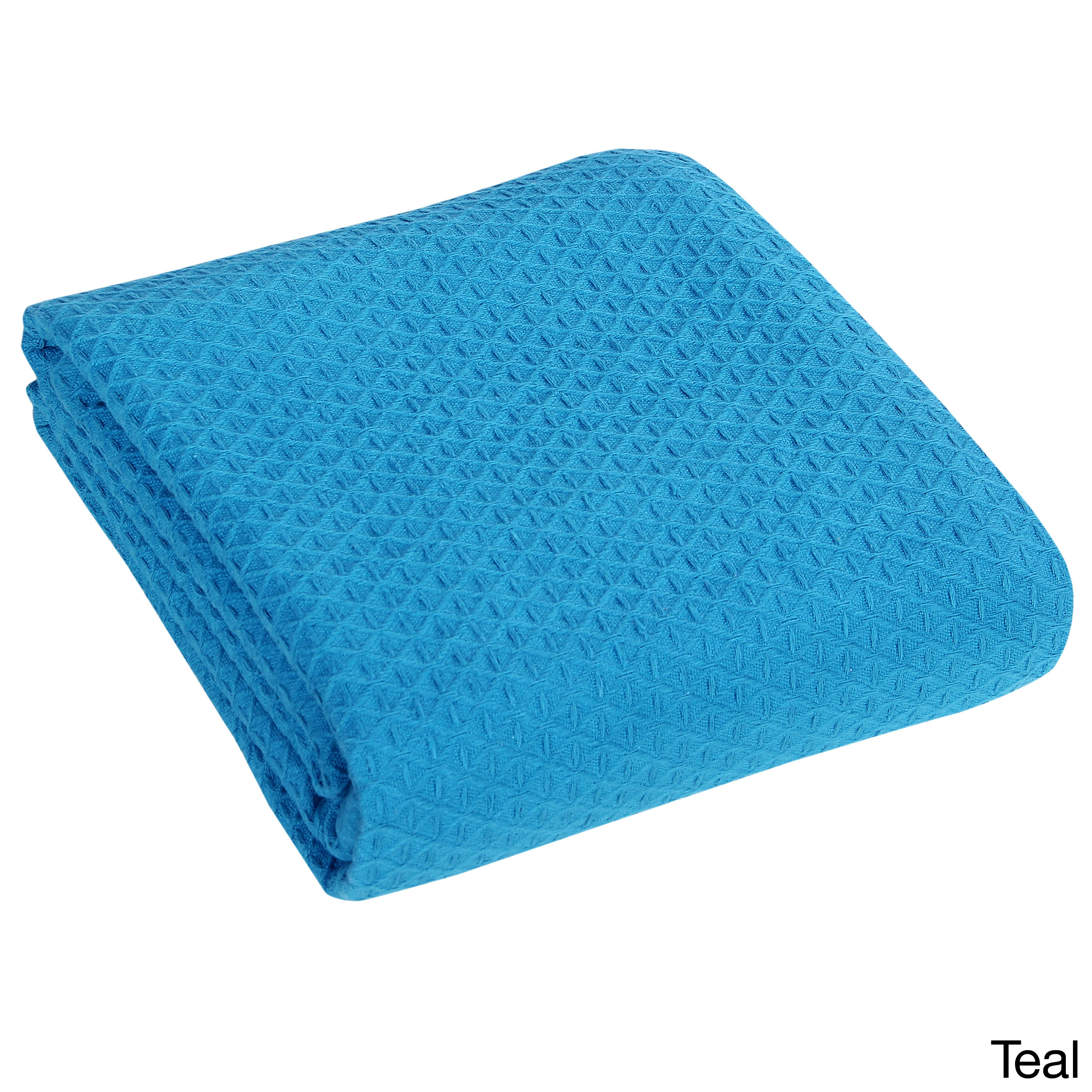 Classic All Seasons Super Soft Lightweight Cotton Blanket King, Teal