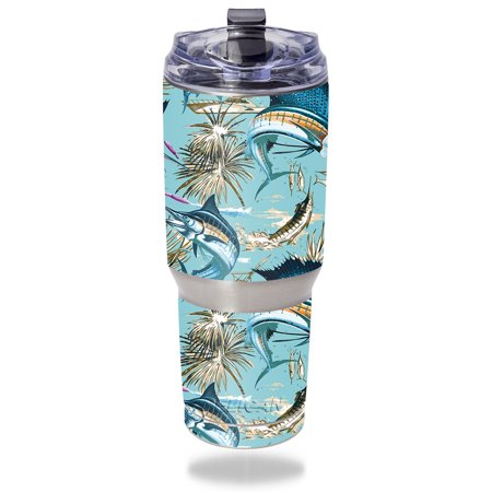 Skin For Pelican Tumbler 32 oz – Island Fish | MightySkins Protective, Durable, and Unique Vinyl Decal wrap cover | Easy To Apply, Remove, and Change Styles | Made in (Island Wrap)