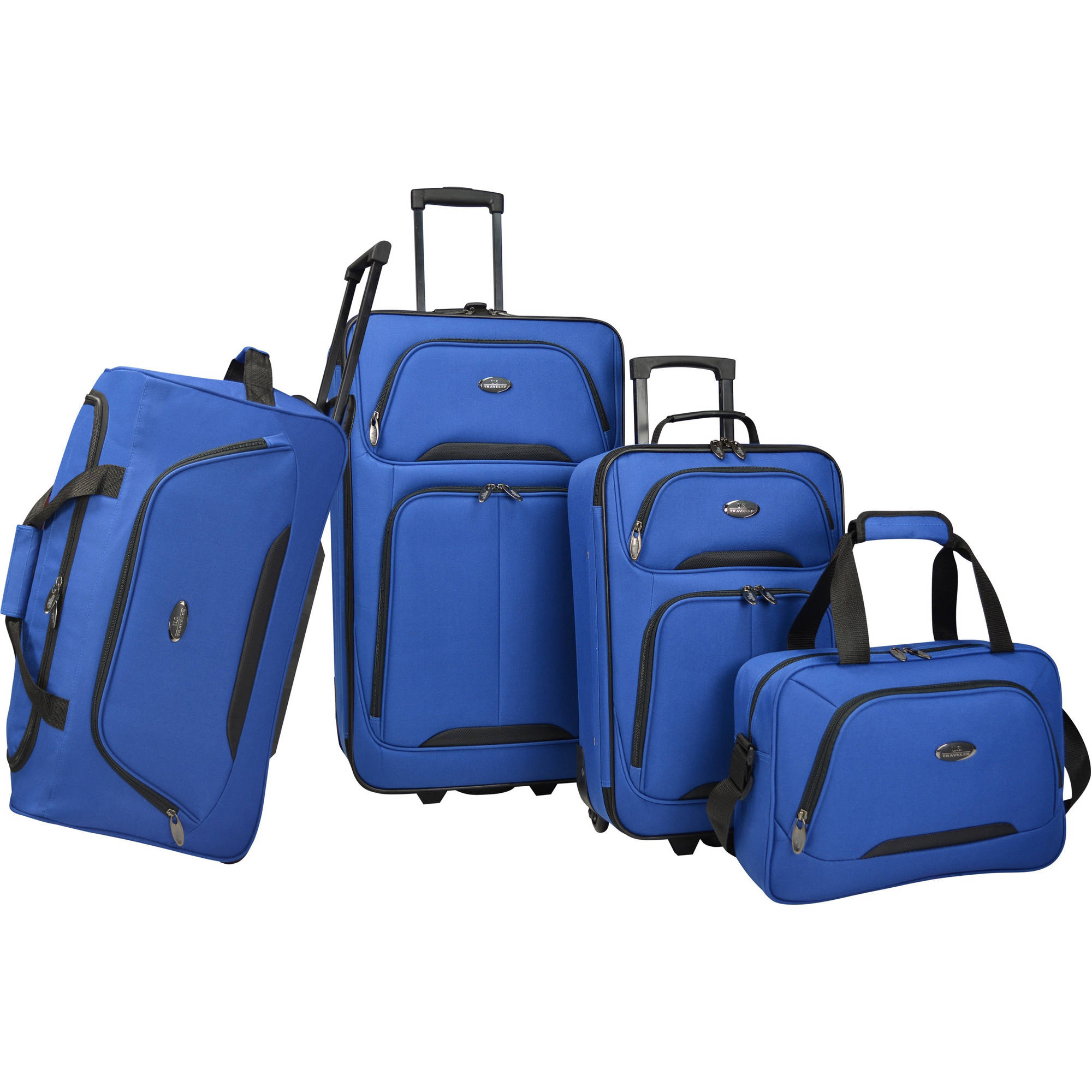 U.S. Traveler Vineyard 4-Piece Soft-Side Luggage Set
