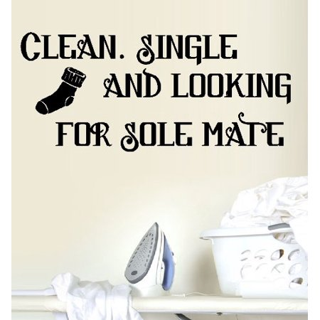 CLEAN SINGLE AND LOOKING FOR SOLE MATE ~ WALL DECAL, 8