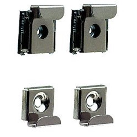 Chrome Mirror Clips (CRL Polished Chrome Plastic Lined Mirror Mounting Clips, 4 Clips Per Set, Polished Chrome Finish By C.R.)