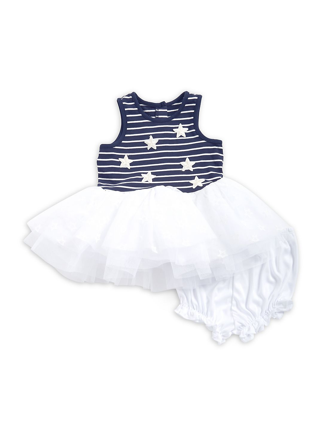 Baby Girl's Two-Piece Tulle Dress and Bloomers Set
