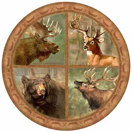 Thirstystone Drink Coasters Set, Wildlife Collage