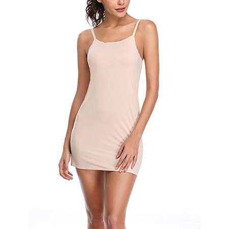 LELINTA Womens Full Slips Under Dress Adjustable Spaghetti Strap Long Cami Camisole Slip