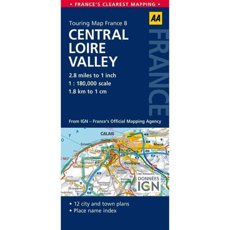 Aa Touring Map France Central Loire Valley