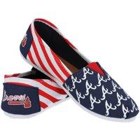 Atlanta Braves Women's Canvas Stripe Shoes