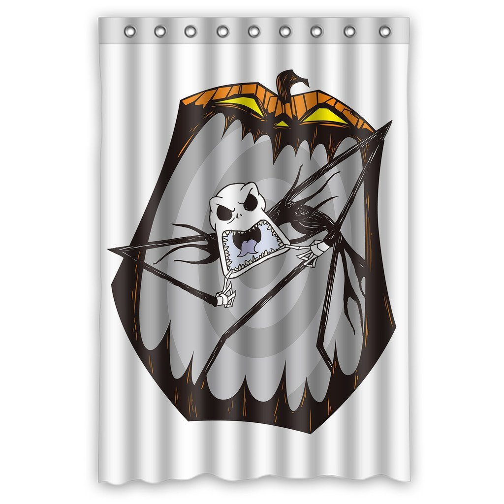 DEYOU The Nightmare Before Christmas Jack Skellington Shower Curtain Polyester Fabric Bathroom Size 48x72 Inches