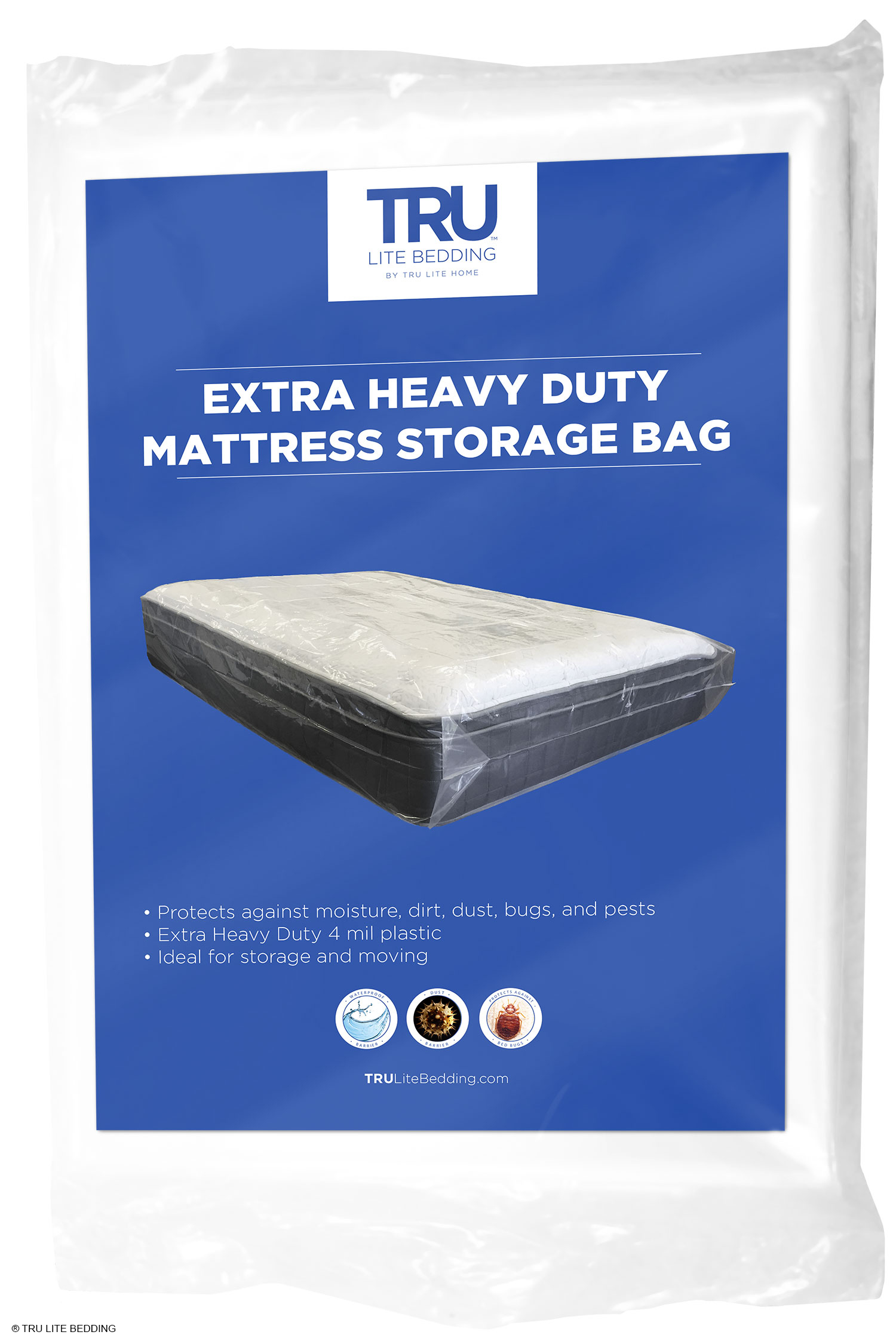 Beau Heavy Duty Mattress Storage Bag   Extra Thick 4 Mil   Fits Standard, Extra  Long