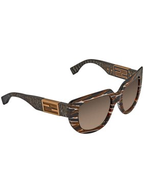 1a54aace578b Free shipping. Product Image Fendi Baguette Brown Gradient Cat Eye Ladies  Sunglasses FF 0031 S 7YQCC 52