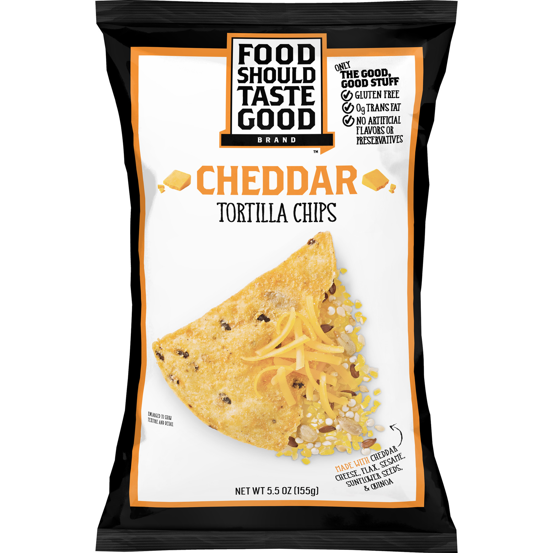 Food Should Taste Good Cheddar Tortilla Chips, 5.5 oz
