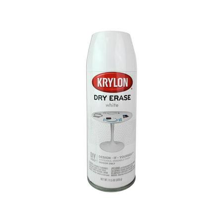 - Krylon Dry Erase Paint Spray 11.5 oz White