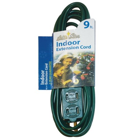 9' Brite Star Indoor Multi-Outlet Extension Cord – Green Wire