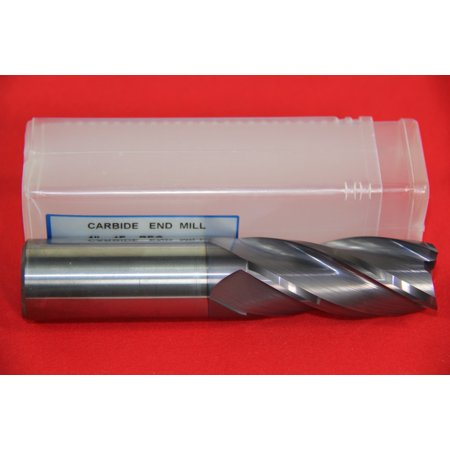 1 PC 4 FLUTE 1/2 END MILL SOLID CARBIDE TIALN COATED X 1 X 3 CNC BIT Coated Solid Carbide End Mill
