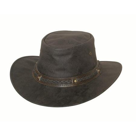 New  Bullhide Hobart Crushable Leather Hat