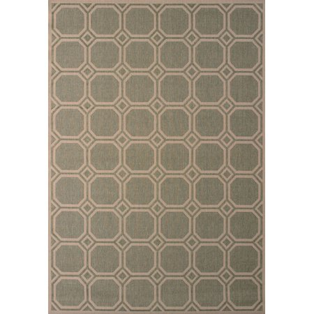 Designer Home Salem Area Rugs - 101-40840 Contemporary Green Rhombus Cubes Diamond Boxes (Salem Mall Stores)