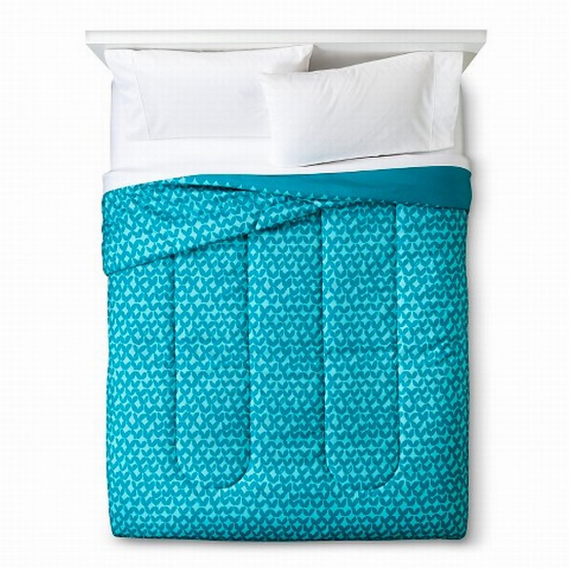 Room Essentials Twin XL Turquoise Petal Reversible Comforter Dorm Bed