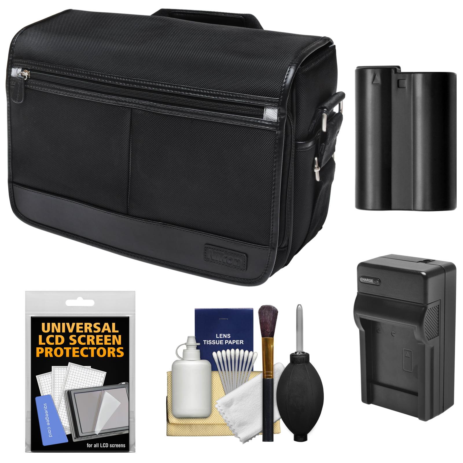 Nikon DSLR Camera/Tablet Messenger Shoulder Bag with EN-EL15 Battery & Charger + Kit for D7200, D7100, D610, D800, D810