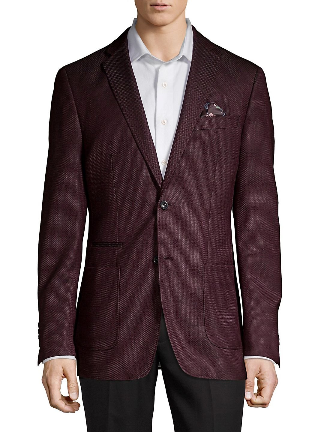 Textured 2-Button Sportcoat
