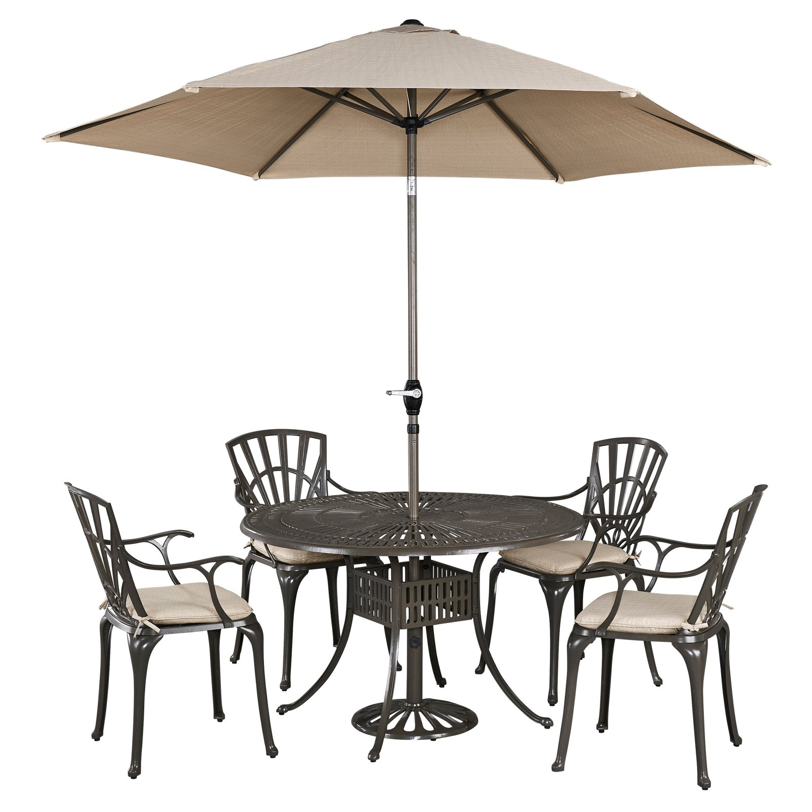 Largo 5PC Dining Set w/ Umbrella