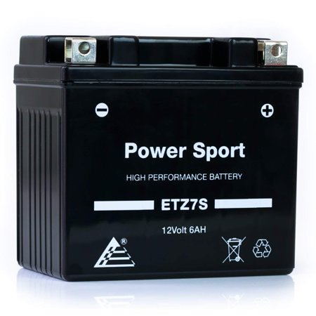 ExpertPower ETZ7S YTZ7S 12V6AH Replacement Sealed Maintenance Free Powersport Battery for Honda 50 CHF50 Metropolitan, II