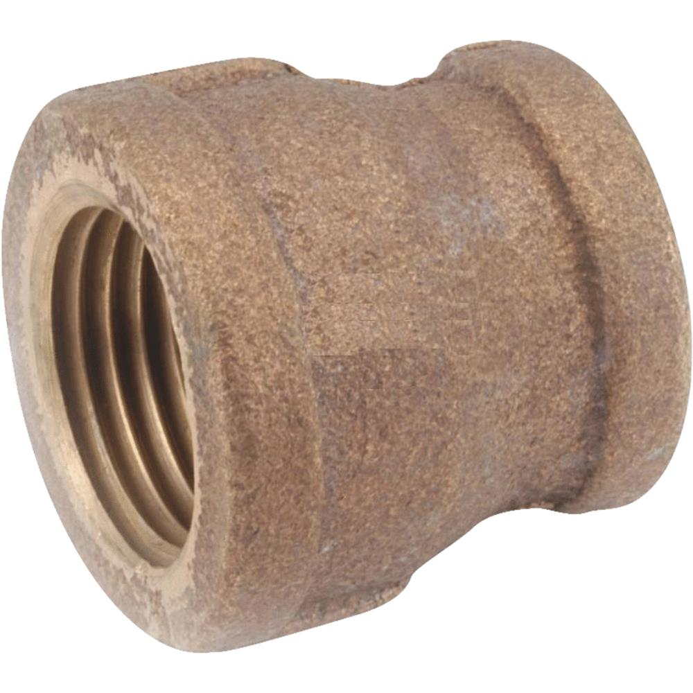 Anderson Metals Corp Inc 1/2x3/8 Brass Coupling 738119-0806