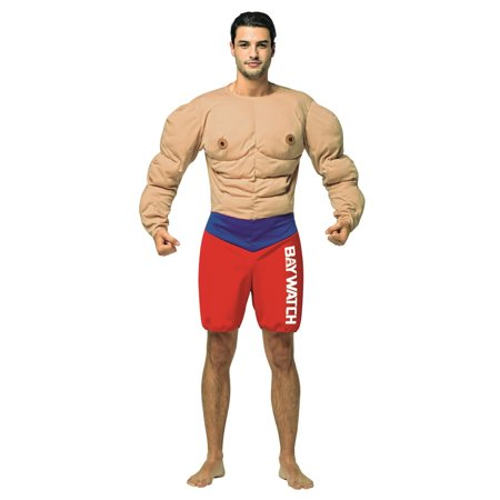 Baywatch - Muscles Lifeguard Adult Halloween Costume](Baywatch Womens Costume)