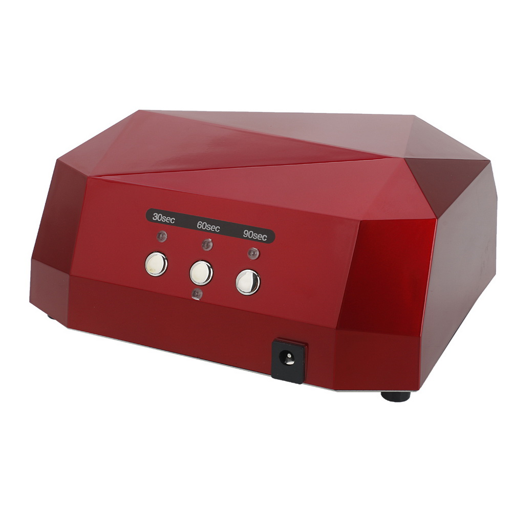Zimtown 36W LED CCFL Nail Dryer Diamond Shape Curing Lamp Machine For UV Gel Nail Polish Red - image 1 of 7