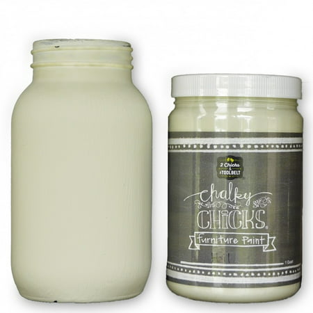 Chalk Finish Paint - Furniture & Cabinet Paint (32 oz., Hail) ()
