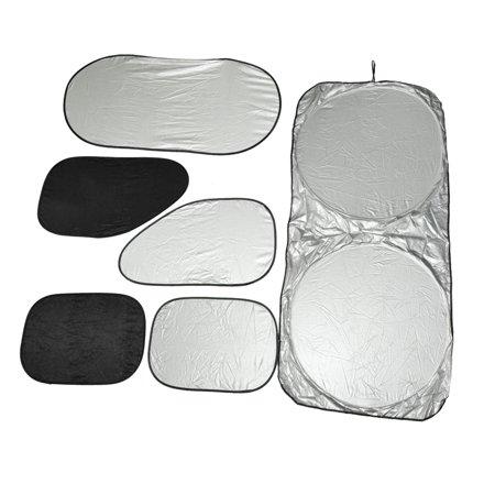 6 in 1 Car Front Rear Side Windshield Window Sunshade Visor Cover UV Protection (Rear Sunshade)