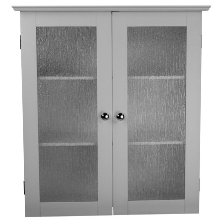 Connor Wall Cabinet With 2 Gl Doors White