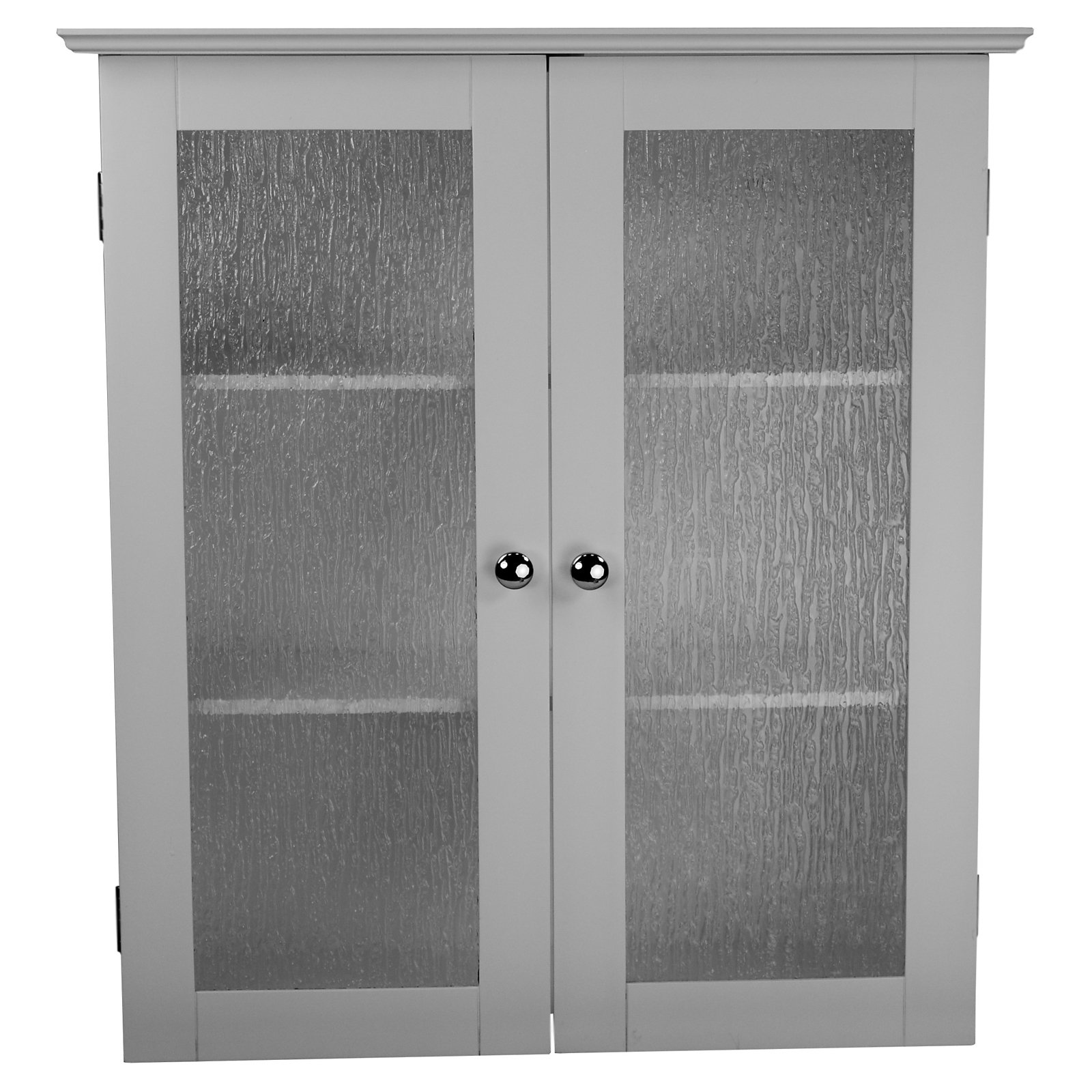 Connor Wall Cabinet with 2 Glass Doors, White