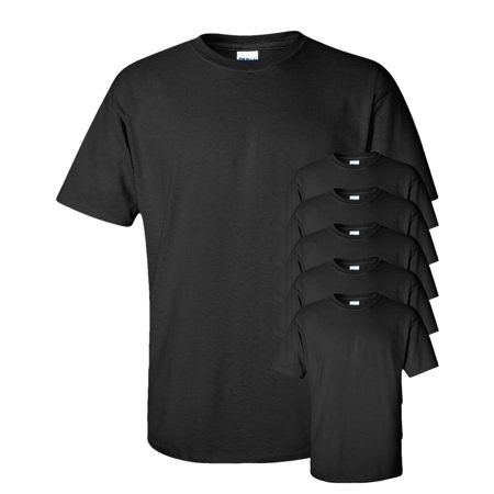 Gildan Adult Ultra Taped Neck Preshrunk Jersey T-Shirt, Pack of 6