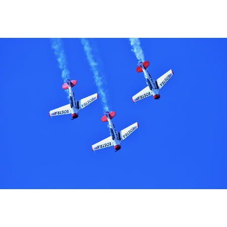 Canvas Print Air Show Aircraft Formation Aerobatic Manoeuvres Stretched Canvas 32 x 24