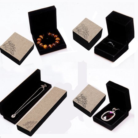 Jewelry Display Box Ring Bracelet Necklace Pendant Holder Gift Case Organizer