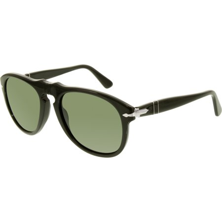 Persol Men's PO0649-95/31-52 Black Square Sunglasses