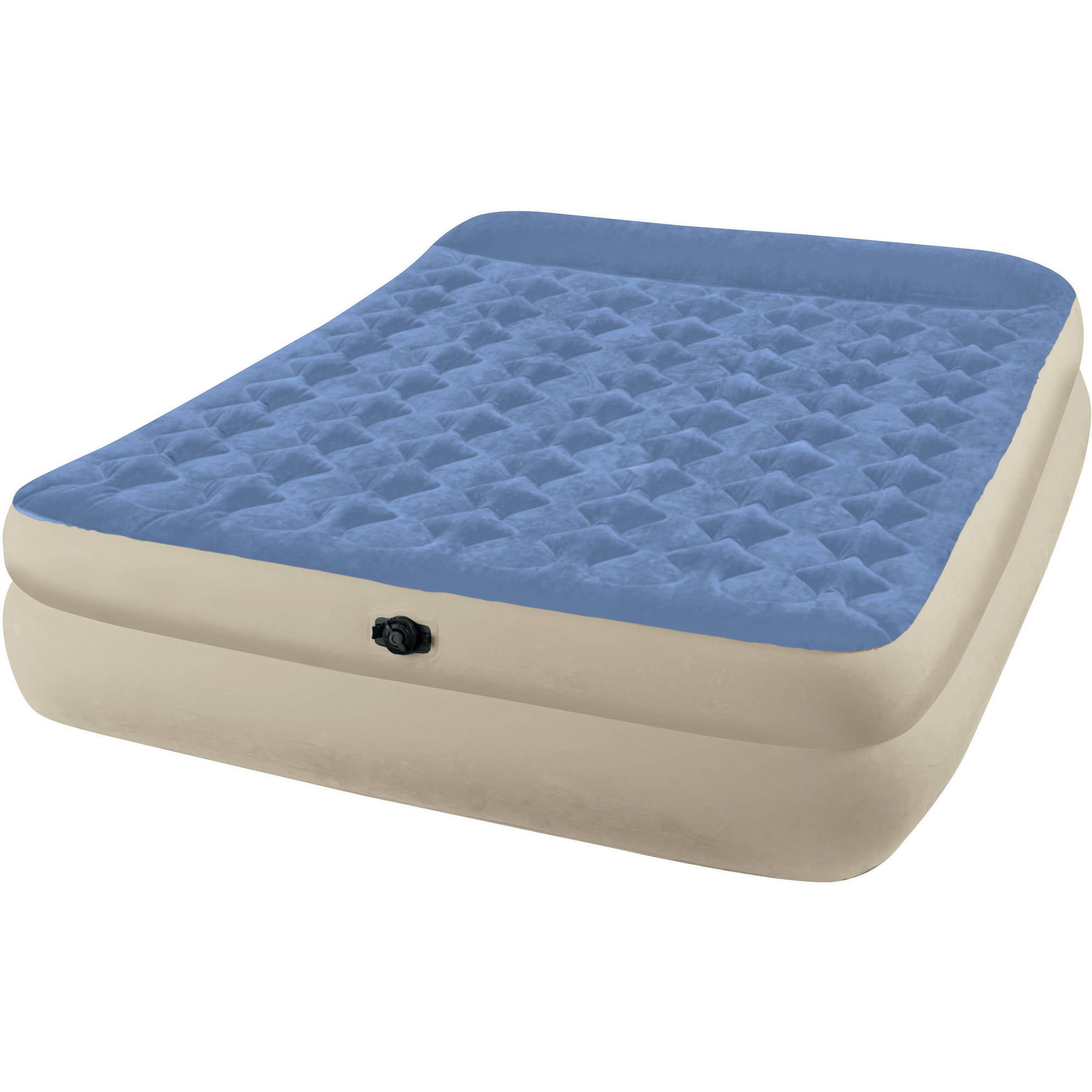 Intex Queen Raised Airbed Mattress With Battery Pump Value